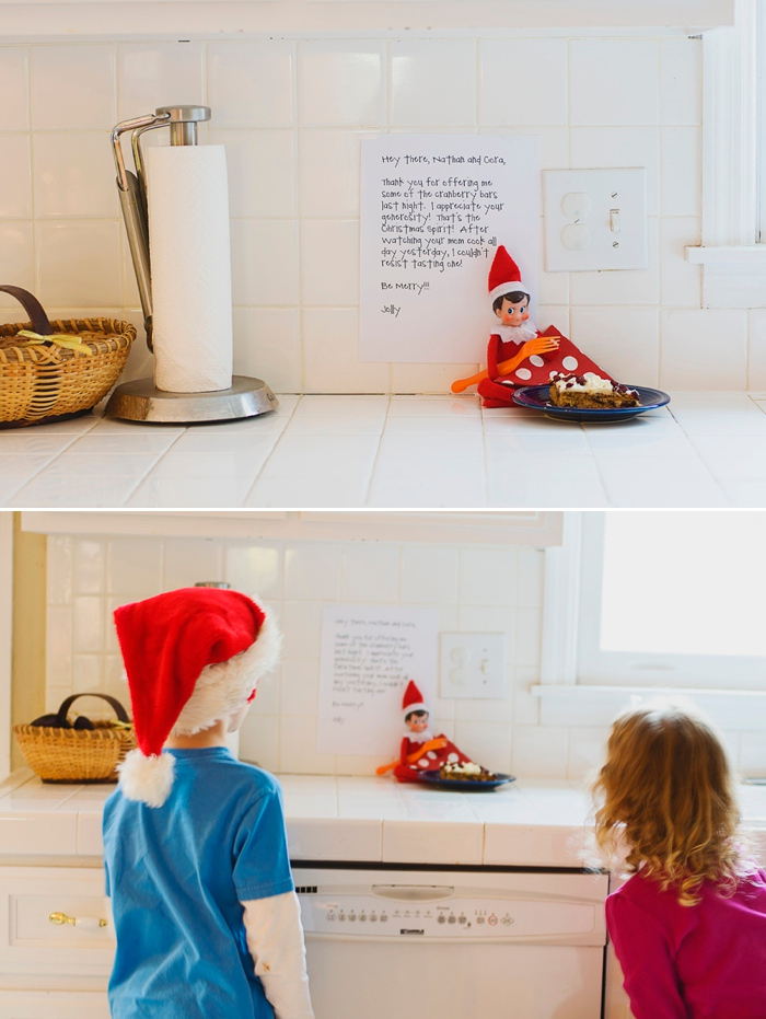 Elf eats some dessert, Elf on the Shelf ideas by Carey Pace