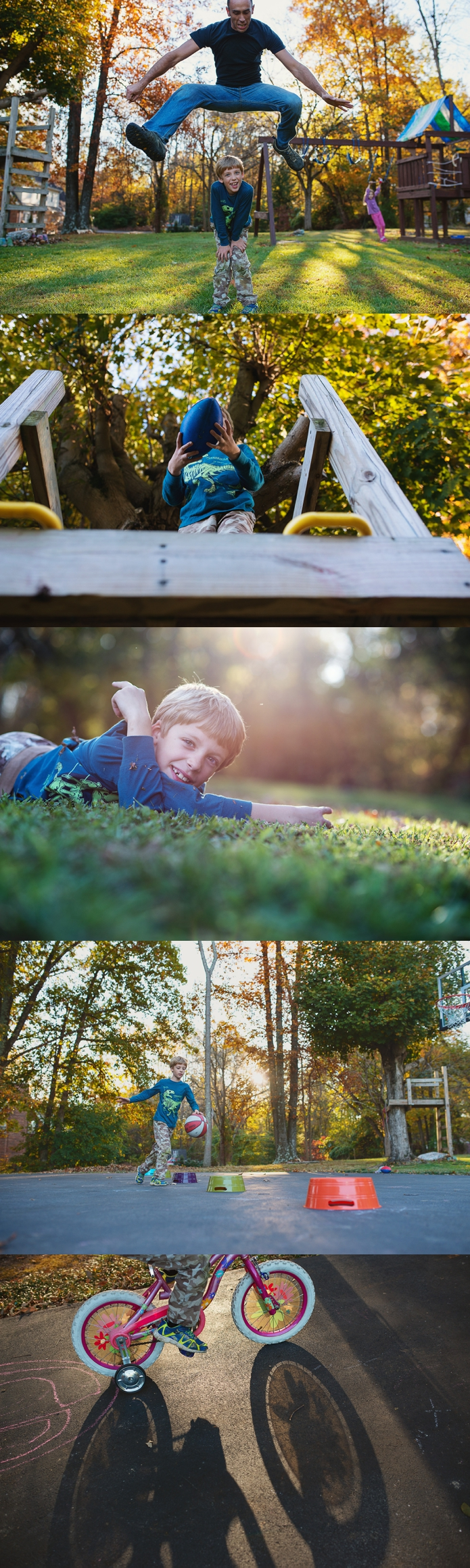 backyard play in fall by Carey Pace 2014