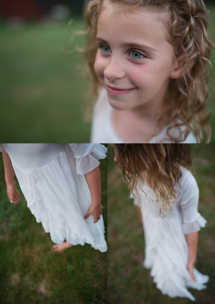 evening light in a princess dress by carey pace