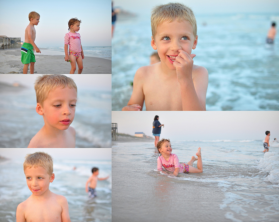 sunset beach photography at Topsail Island NC by Carey Pace in 2011