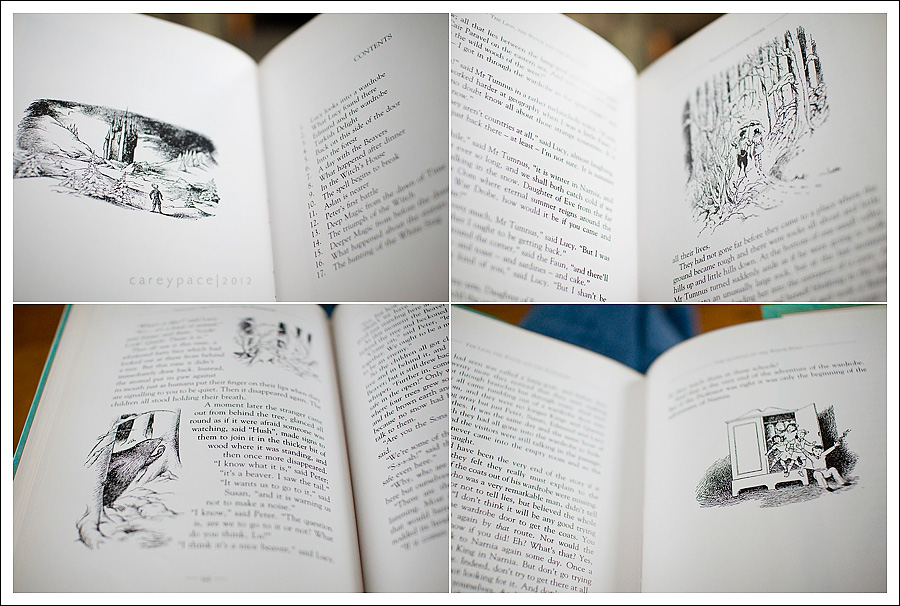 pages from Narnia book