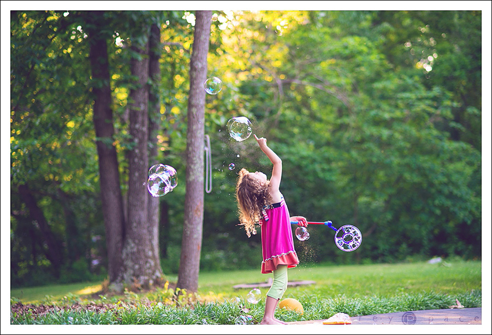 Girl with Bubbles by Carey Pace