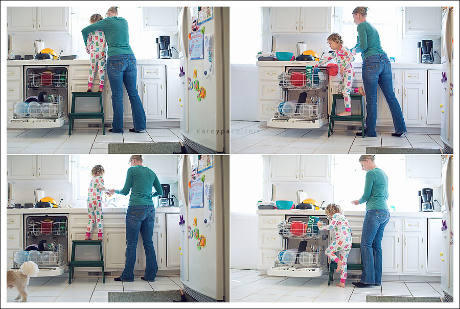 Carey Pace 2012, doing the dishes, lifestyle photography